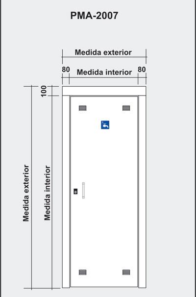 Puertas de paso recinto de contadores de agua - Puerta para discapacitados medidas ...