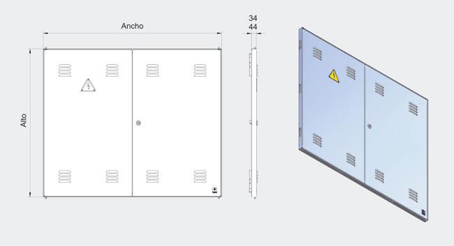 Puertas metalicas instalaciones enlace for Puertas metalicas para habitaciones